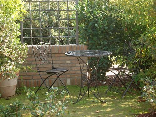 Il Giardino degli Angeli salottino Giardino segreto
